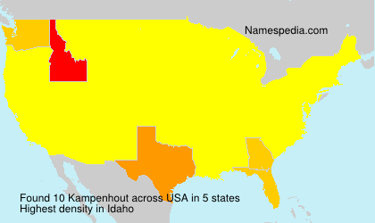 Surname Kampenhout in USA