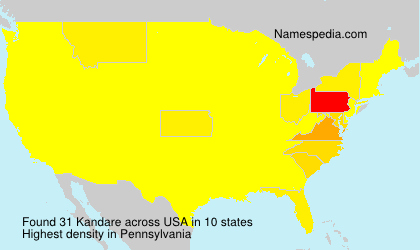 Surname Kandare in USA