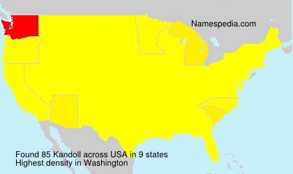 Surname Kandoll in USA