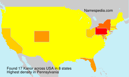 Surname Kanor in USA
