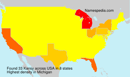 Surname Kansy in USA