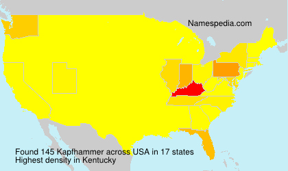 Surname Kapfhammer in USA