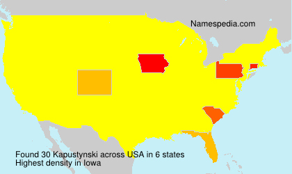 Surname Kapustynski in USA