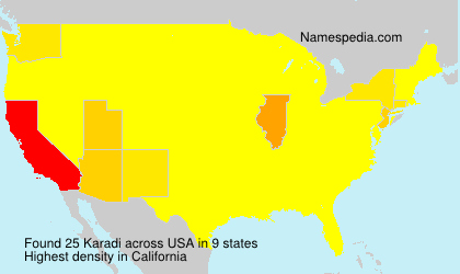 Surname Karadi in USA