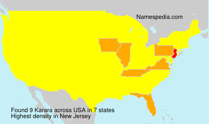 Surname Karara in USA