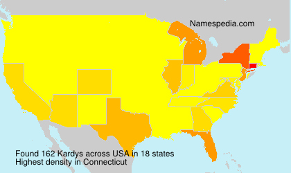 Surname Kardys in USA
