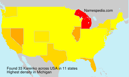 Surname Karenko in USA