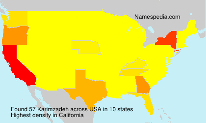 Surname Karimzadeh in USA