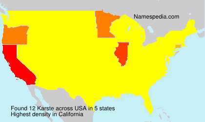 Surname Karste in USA