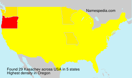 Surname Kasachev in USA