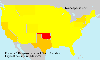 Surname Kaspereit in USA