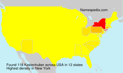 Surname Kastenhuber in USA