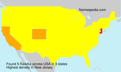 Surname Kaszka in USA
