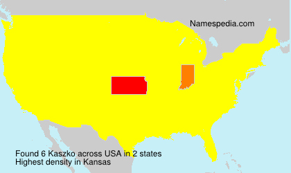 Surname Kaszko in USA