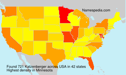 Surname Katzenberger in USA