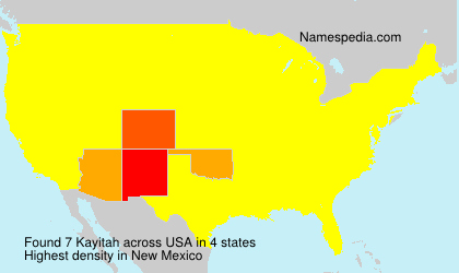 Surname Kayitah in USA