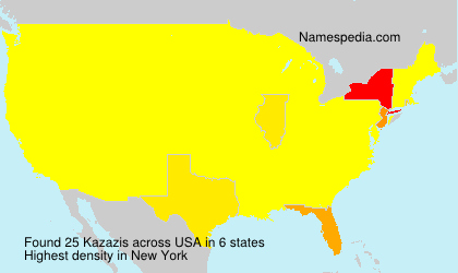 Surname Kazazis in USA