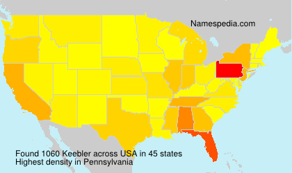 Surname Keebler in USA