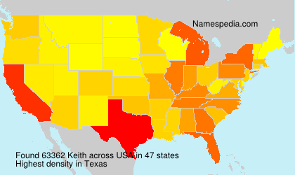 Surname Keith in USA