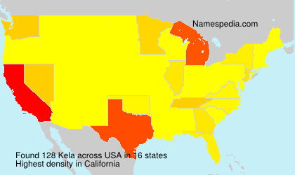 Surname Kela in USA