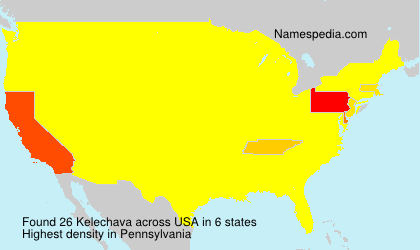 Surname Kelechava in USA