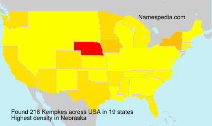 Surname Kempkes in USA