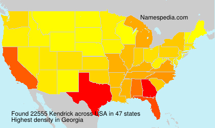 Surname Kendrick in USA