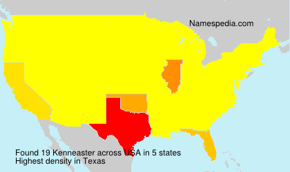 Surname Kenneaster in USA