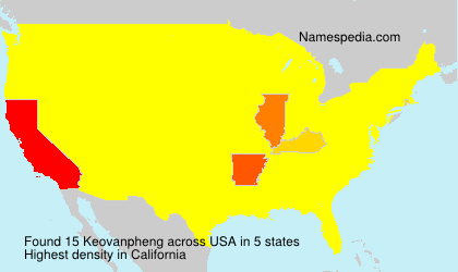 Surname Keovanpheng in USA