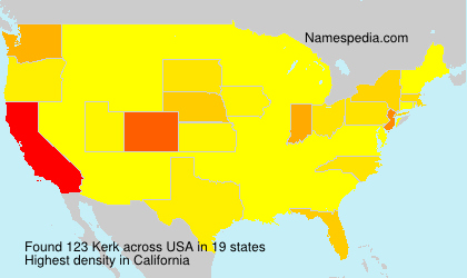 Surname Kerk in USA