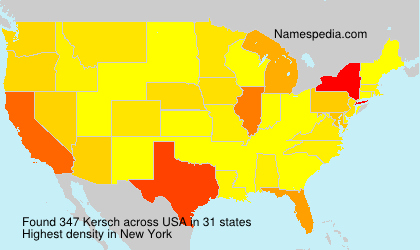 Surname Kersch in USA