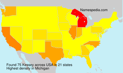 Surname Kessey in USA
