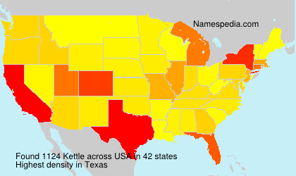 Surname Kettle in USA