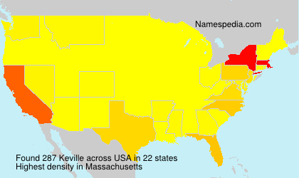 Surname Keville in USA