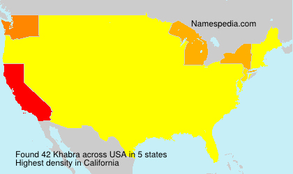 Surname Khabra in USA