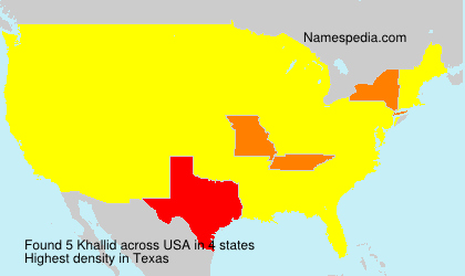 Surname Khallid in USA