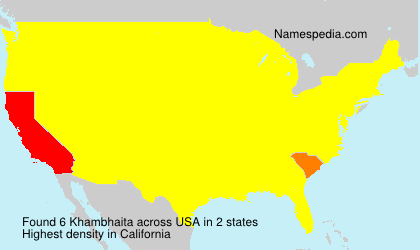 Surname Khambhaita in USA