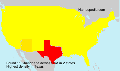 Surname Khandheria in USA