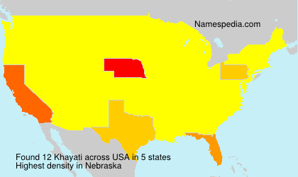 Surname Khayati in USA