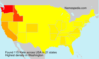 Surname Kiele in USA