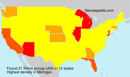 Surname Kilma in USA
