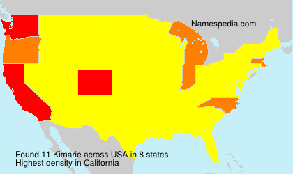 Surname Kimarie in USA