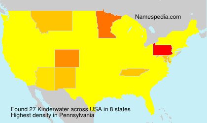 Surname Kinderwater in USA