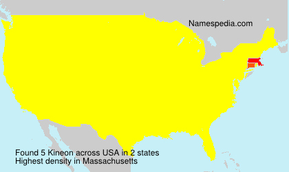 Surname Kineon in USA