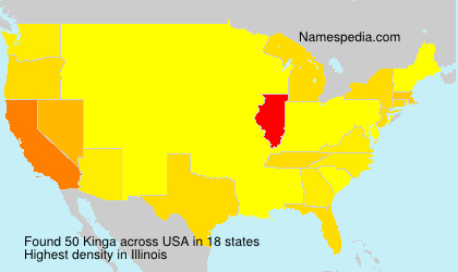Surname Kinga in USA
