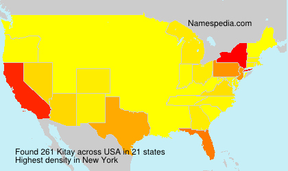 Surname Kitay in USA