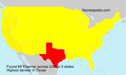 Surname Klaerner in USA