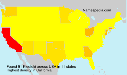 Surname Kleefeld in USA