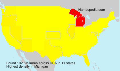Surname Kleikamp in USA