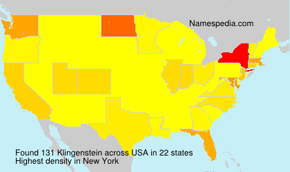 Surname Klingenstein in USA